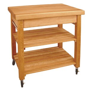 French Country Kitchen Cart with Butcher Block Top Catskill Craftsmen, Inc.