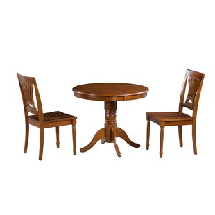 Inwood 3 Piece Solid Wood Dining Set
