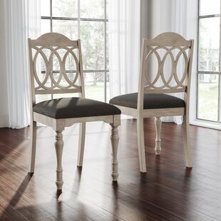 Piazza Upholstered Dining Chair (Set of 2) August Grove