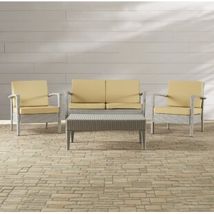 Cade 4 Piece Rattan Sofa Seating Group with Cushion