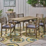 Restivo 7 Piece Dining Set with Cushions