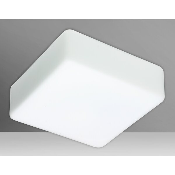 Besa Lighting Geo White 2 Bulb Outdoor Flush Mount Wayfair