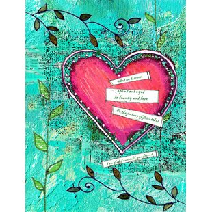 Heartfelt Wish Valentine's Day Vertical Flag by Caroline's Treasures