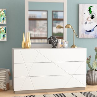 Ram 6 Drawer Double Dresser with Mirror