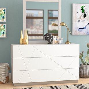 Ram 6 Drawer Double Dresser with Mirror