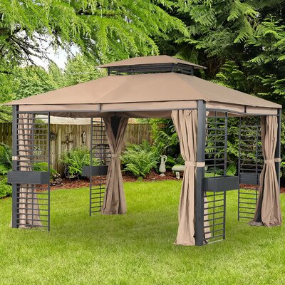 Replacement Canopy for 10' W x 12' D Abri Soleil BR. Gazebo Sunjoy -  110109275