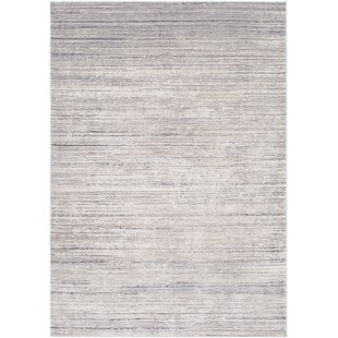 Beau Bridgeton Distressed Modern Sleek Gray/Cream Area Rug