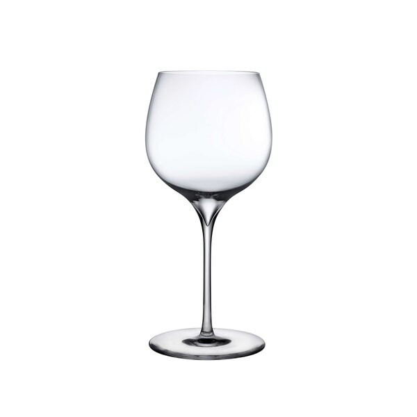 Amazing Deal on Dimple Crystal White Wine Glasses Nude
