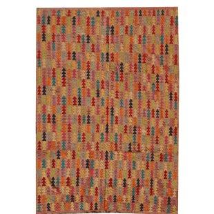 Sammie Handmade Kilim Wool Brown Rug by Longweave