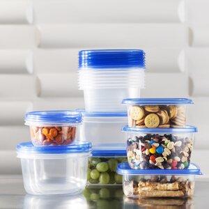 Basics Plastic 17 Container Food Storage Set