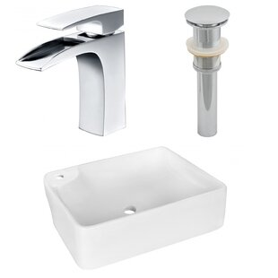 Ceramic Rectangular Vessel Bathroom Sink with Faucet By Royal Purple Bath Kitchen