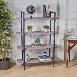 Anders Faux Wood 4 Tier Etagere Bookcase by Williston Forge