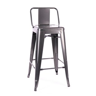Despres Low Back Steel Counter 26 Bar Stool (Set of 4) Williston Forge