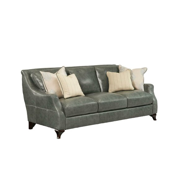 Incroyable Seafoam Green Leather Sofa | Wayfair