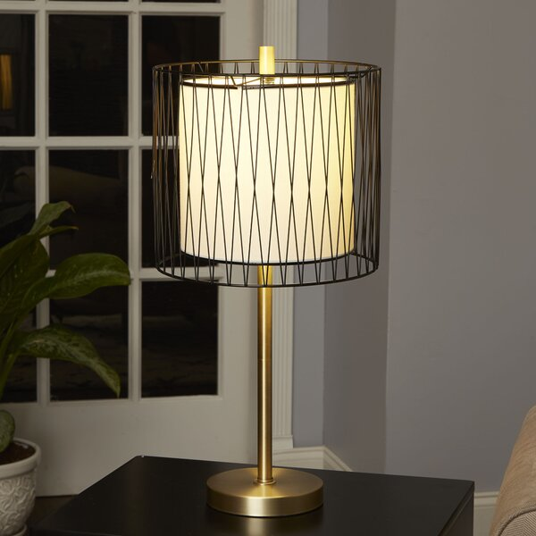 Mistana Trista 23 Table Lamp With Wire Cage Accent Wayfair
