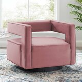 Kuo Swivel 22 Armchair by Everly Quinn