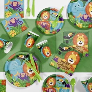 Jungle Safari Birthday Party Paper/Plastic Disposable Supplies Kit