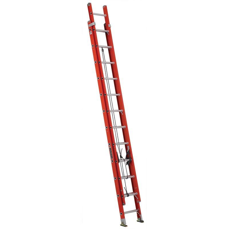 Louisville Ladder 24 Ft Fiberglass Extension Ladder Type Ia 300 Lb Load Capacity Fe3224 Wayfair