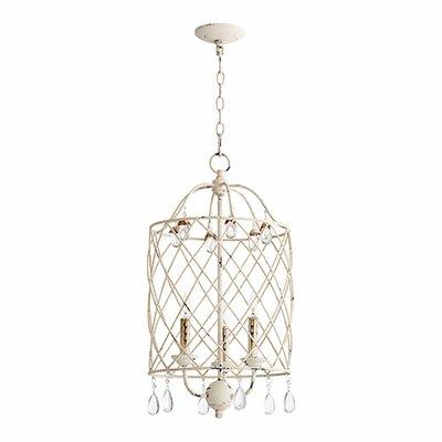 Jaune 3-Light Candle Style Chandelier Lark Manor Finish: Persian White