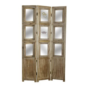 Silvia Wood 3 Panel Room Divider by Millwood Pines