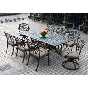 Lebanon 9 Piece Dining Set With Cushions