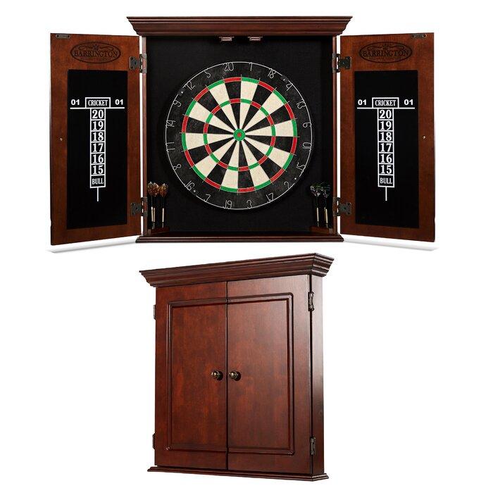 Barrington Billiards Company Chatham Bristle Dartboard and Cabinet ...