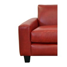 Columbia Genuine Top Grain Leather Club Chair by Westland and Birch