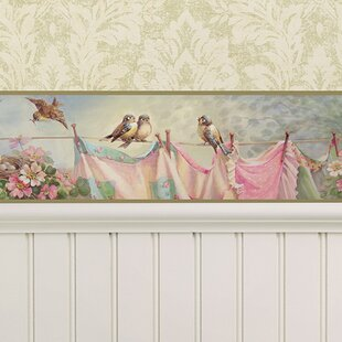 The Cottage Lily S Laundry Line 15 X 6 Wildlife Border Wallpaper