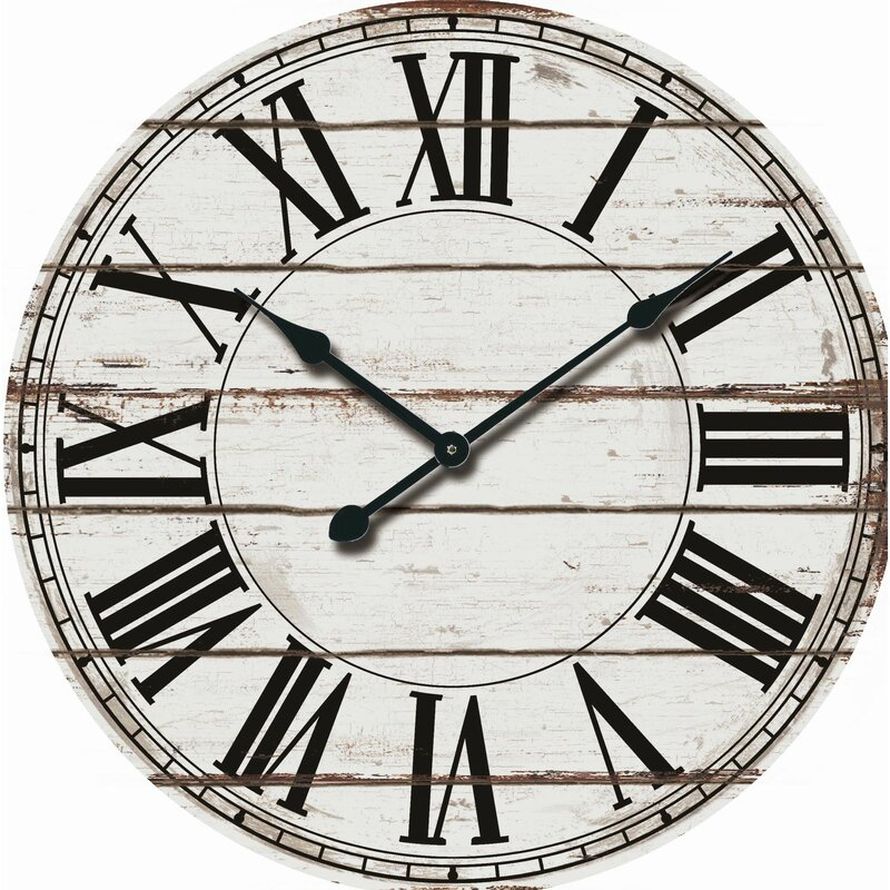 Nora Lane Oversized Rustic Wood 24 Quot Wall Clock Amp Reviews