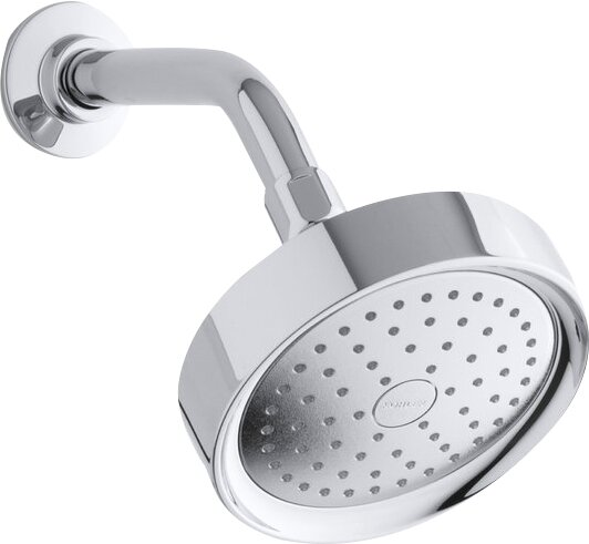 K 965 Ak Cp Sn Bn Kohler Purist 2 5 Gpm Single Function Wall Mount Shower Head With Katalyst Air Induction Spray Reviews Wayfair