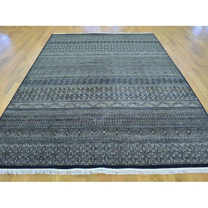 One Of A Kind Becker Gr Design Handwoven Black Wool Area Rug
