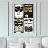 Fashion and Glam Fashion Soup Pop Art Can - Graphic Art Print on Canvas
