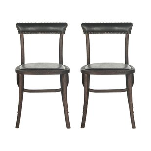 Vicki Solid Back Side Chair (Set of 2)