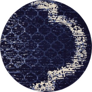 Steinbeck Navy Blue Area Rug by Wrought Studio