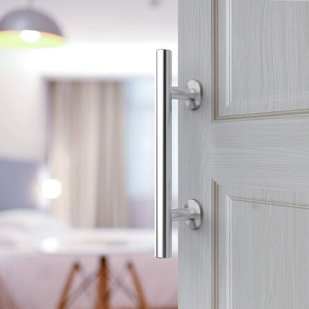 Stainless Steel Sliding Door Handle Round Barn | | Stainless Steel Round Heavy Solid Steel Door Handle Is Suitable For The Garage Shed Barn Door
