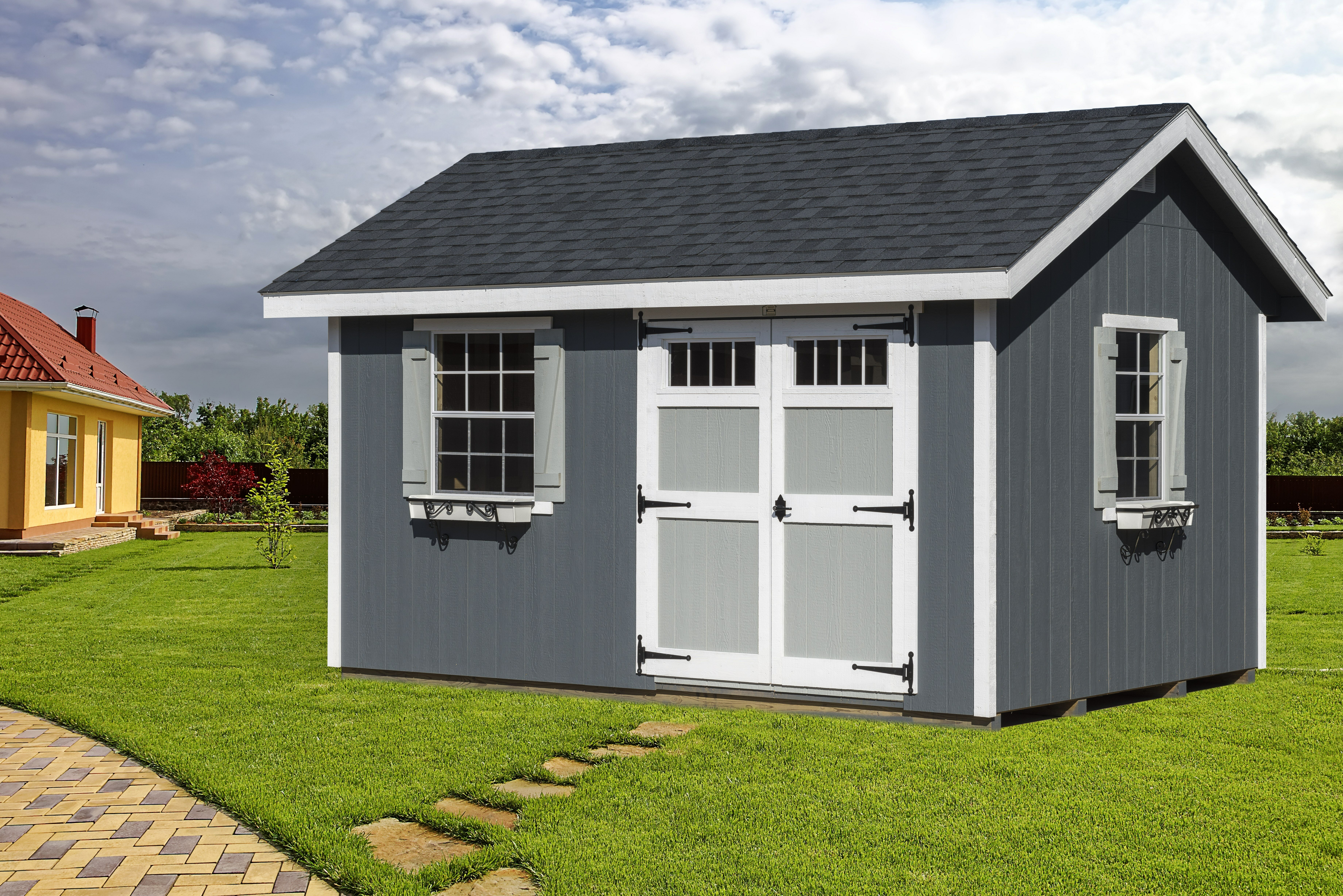 Alpine Structures Heritage 14 Ft. W X 10 Ft. D Wooden Horizontal Storage  Shed | Wayfair