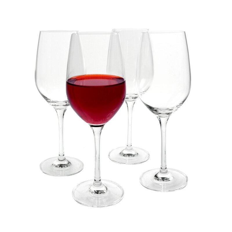 Charlton Home Sanya 13 Oz Crystal Red Wine Glass Wayfair