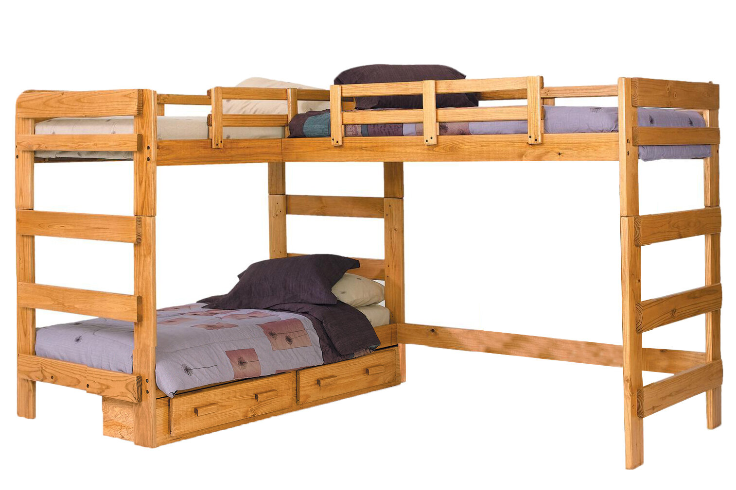Chelsea Home L Shaped Bunk Bed With Storage Wayfair