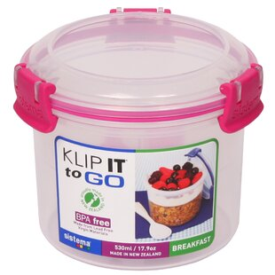 Klip It Breakfast To Go 17.9 Oz. Food Storage Container