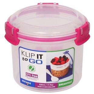 Klip It Breakfast To Go 17.9 Oz. Food Storage Container by Sistema USA #1