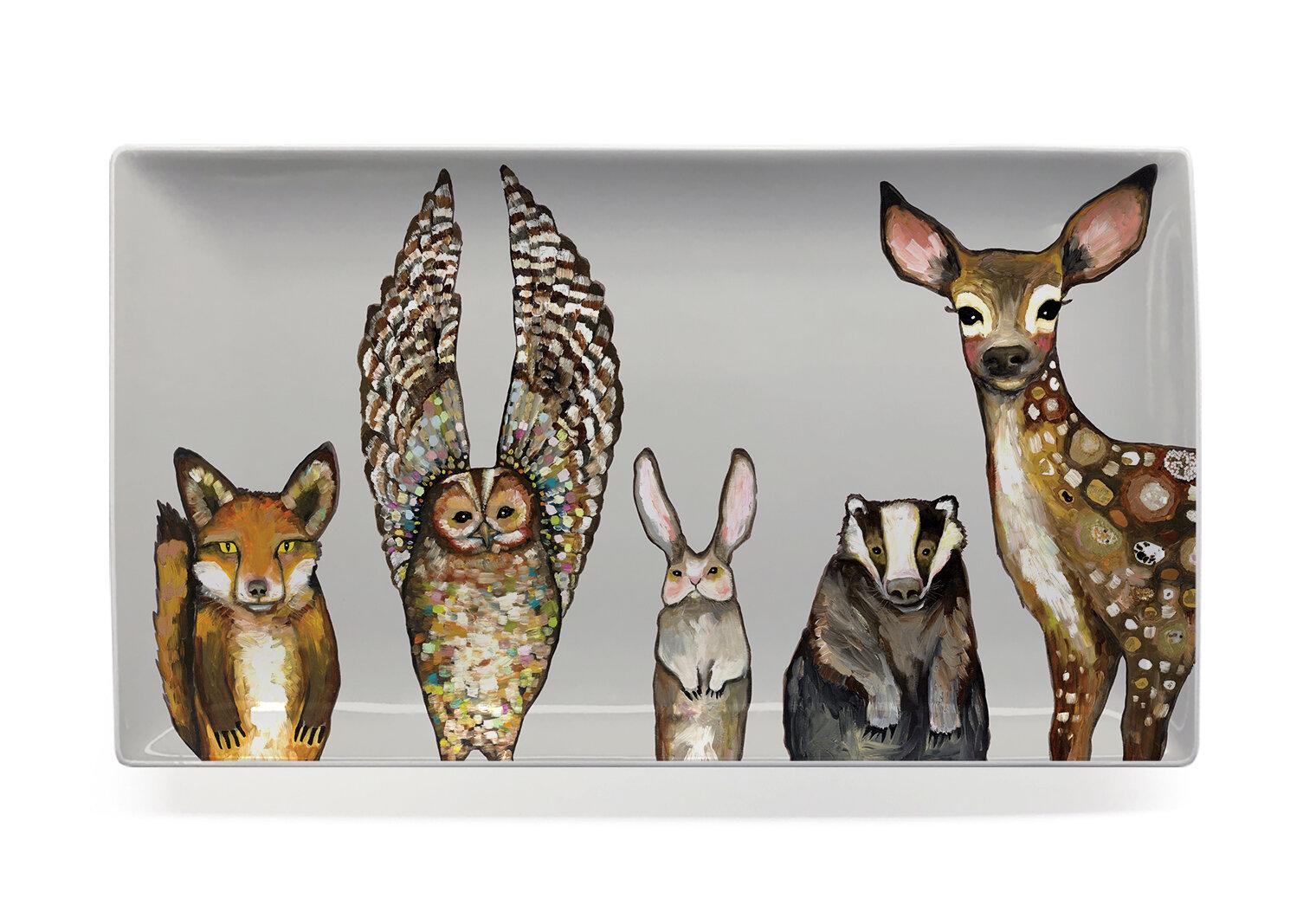 Union Rustic Halloway Forest Animals Decorative Tray Wayfair