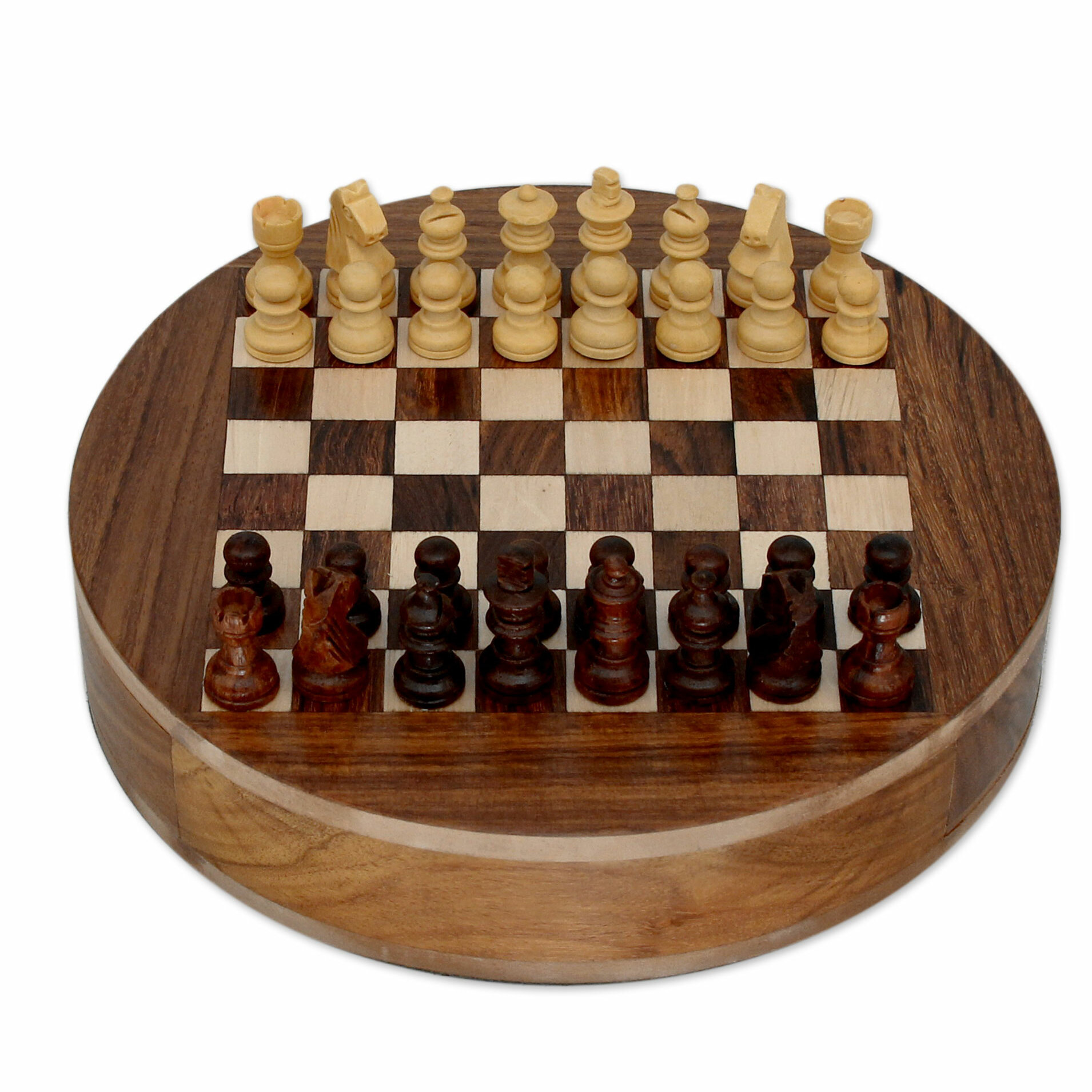 ... Chess Sets Wooden Novica Khyali Ram Decorative Wood Chess Board With  Storage Drawer ...