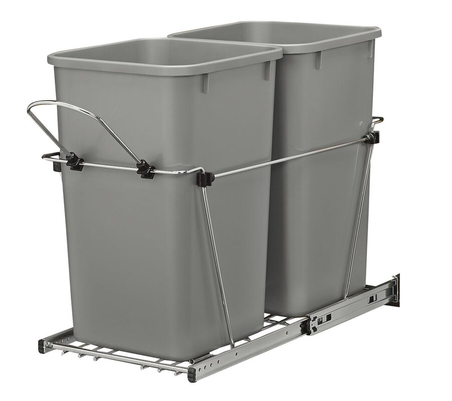 double roll 67 gallon pull out trash can