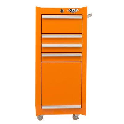 "16"" W 4-Drawer Tool Chest Viper Tool Storage Color: Orange"