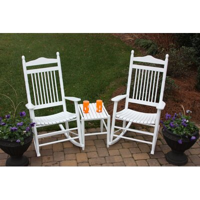 Dixie Seating Company 3 Piece Conversation Set Color: Unfinished