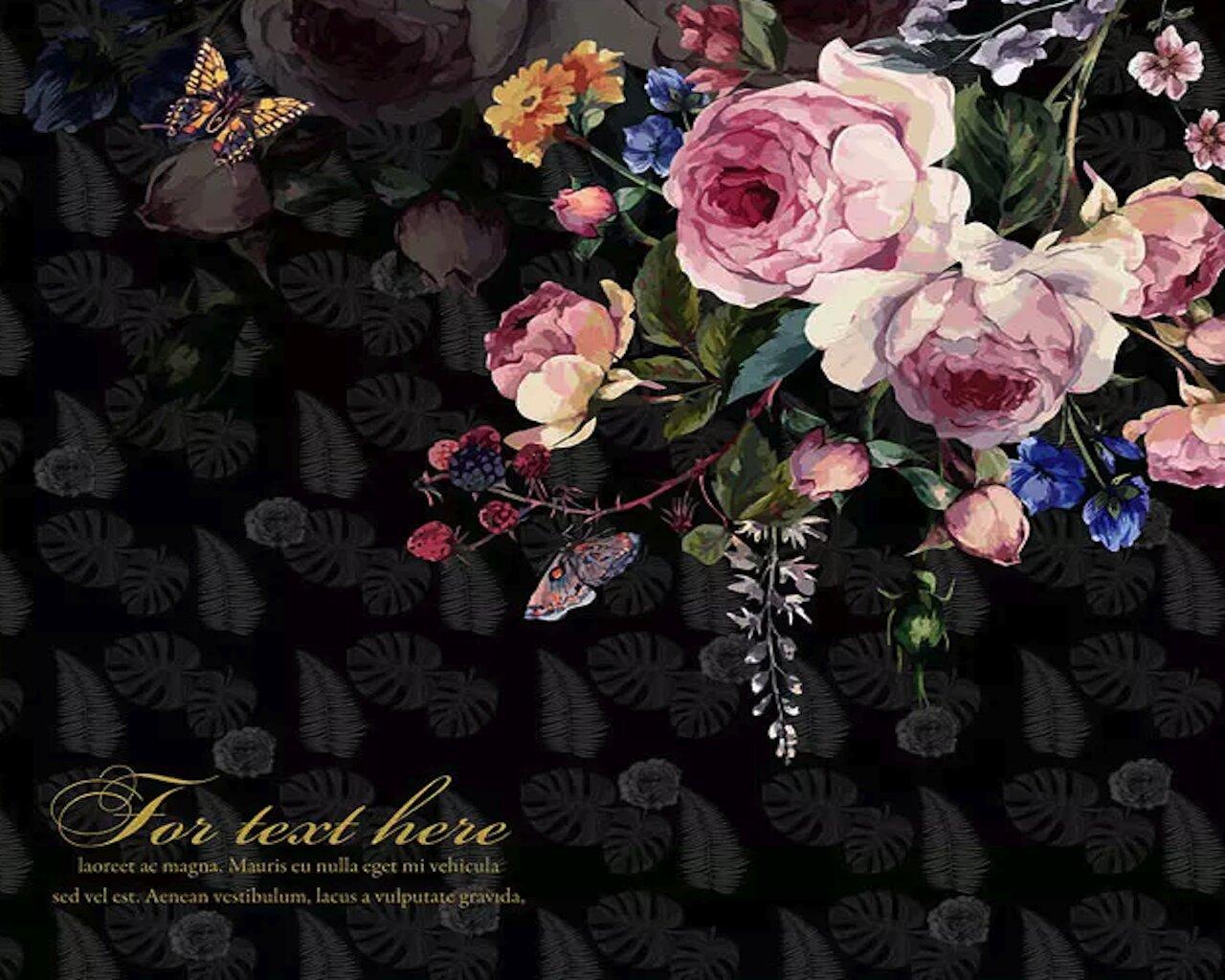 Gk Wall Design Pink Peony Flower Dark Floral Leaf Pattern Textile Wallpaper Wayfair