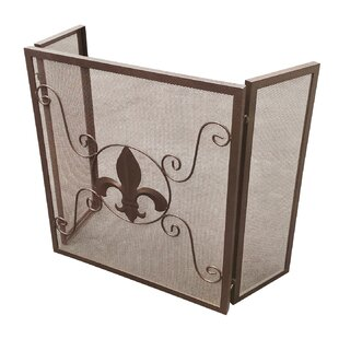 Michelle 3 Panel Steel Fireplace Screen by Fleur De Lis Living