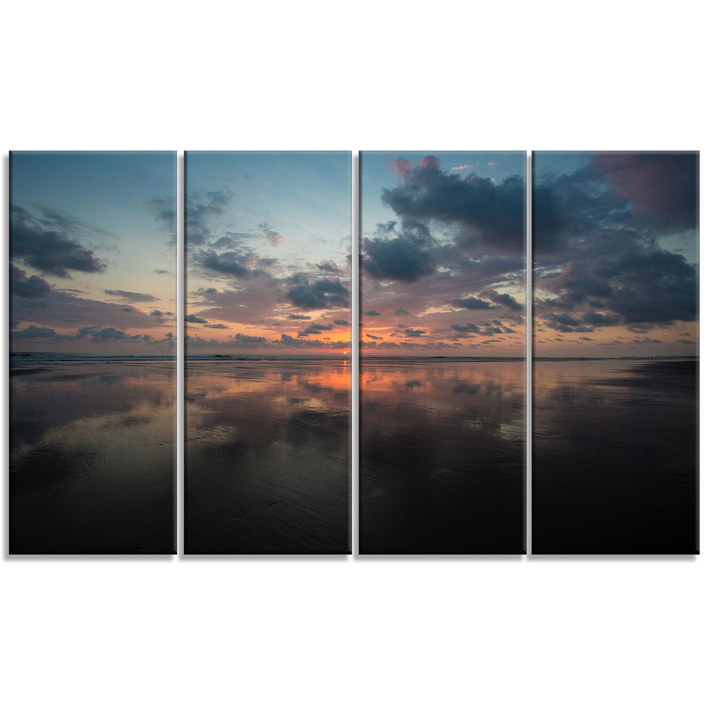 Designart Matapalo In Costa Rica Beach Sunset Photographic Print Multi Piece Image On Wrapped Canvas Wayfair