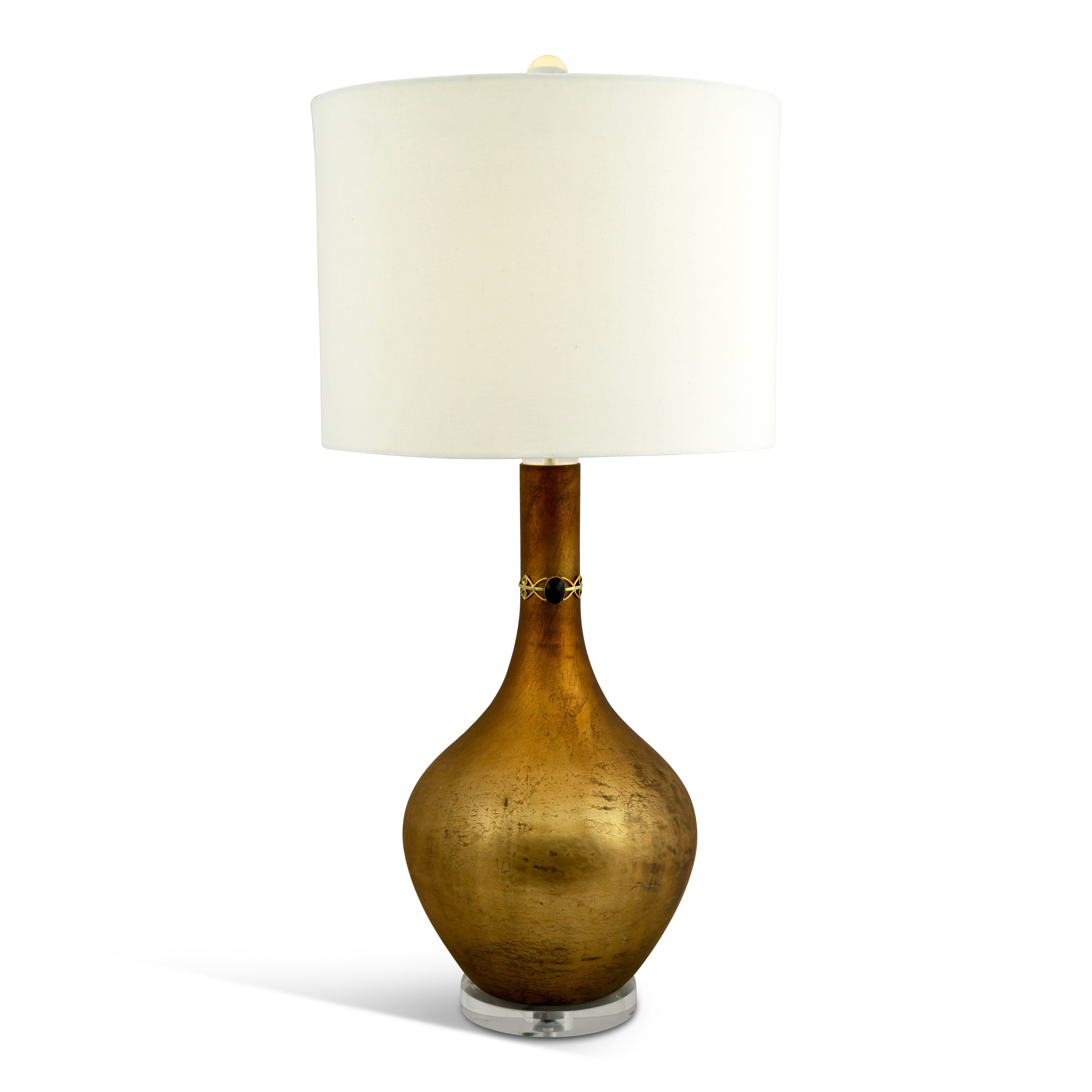 Bloomsbury Market Asar 34 5 Antique Copper Table Lamp