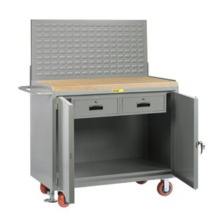 Mobile Service 54W Butcher Block Top Workbench by Little Giant USA